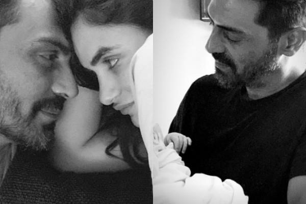 gabriella demetriades share first picture of newborn baby with arjun rampal