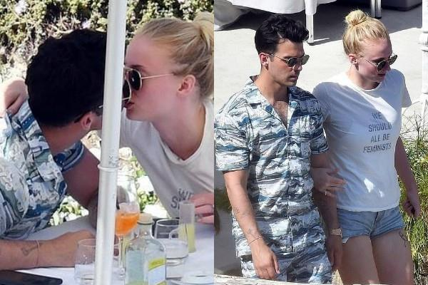 sophie turner joe jonas get cosy while honeymooning in italy