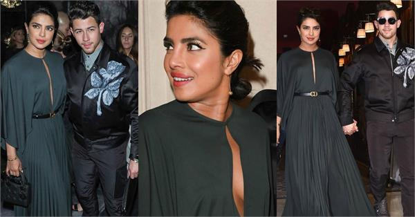 priyanka chopra attend paris fashion week with husband nick jonas