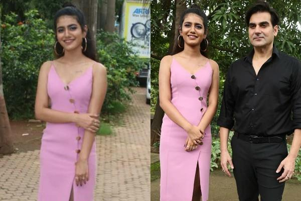 priya prakash varrier looks stunning in plunging neckline dress