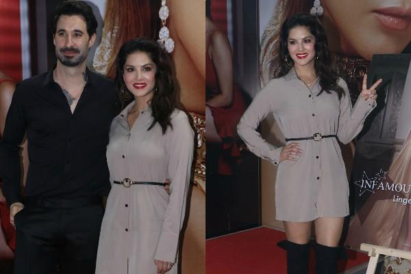 sunny leone attend fashion brand launch with husband daniel weber