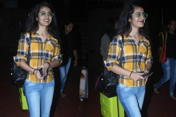 priya prakash varrier snapped at airport
