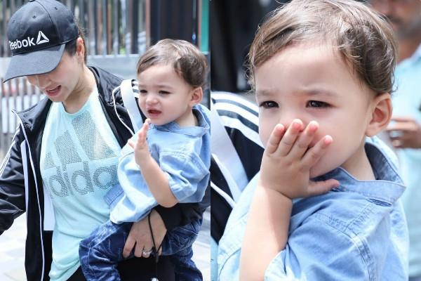 sunny leone son noah singh weber send flying kiss to paparazzi