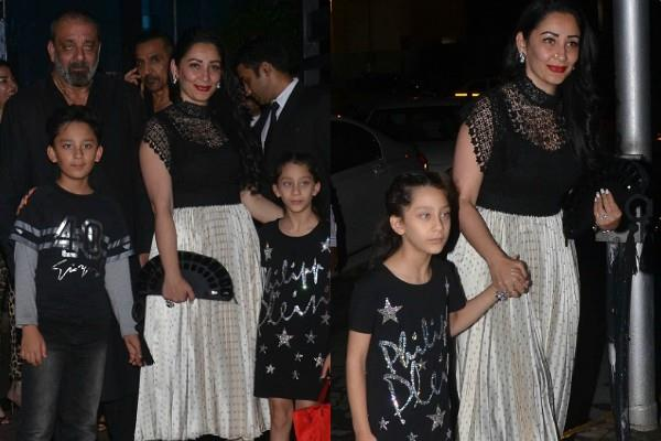 sanjay dutt celebrated birthday with wife manyata dutt and kids