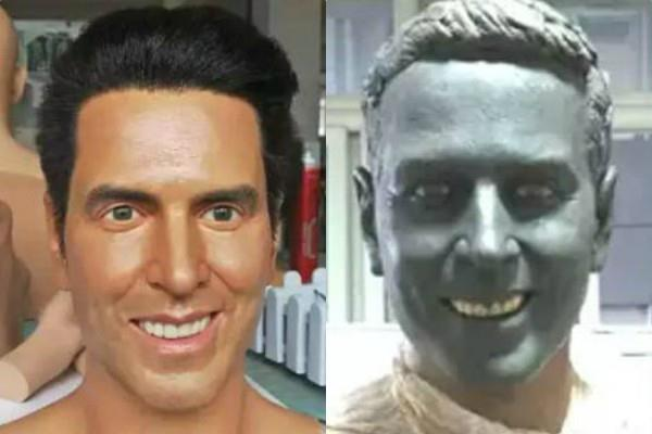 akshay kumar honored with wax statue in the jaipur at nahargarh fort