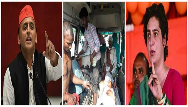 sonbhadra massacre opposition attacked on bjp government