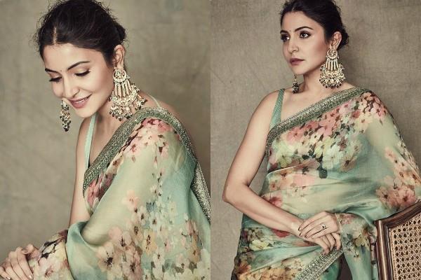 anushka sharma looks beautiful in saree