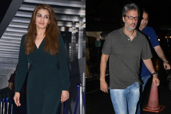 raveena tandon spotted at hakkasan bandra with hubby anil thadani