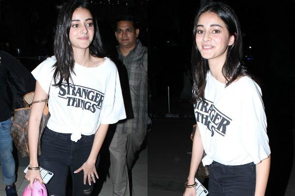 ananya pandey look stunning at airport