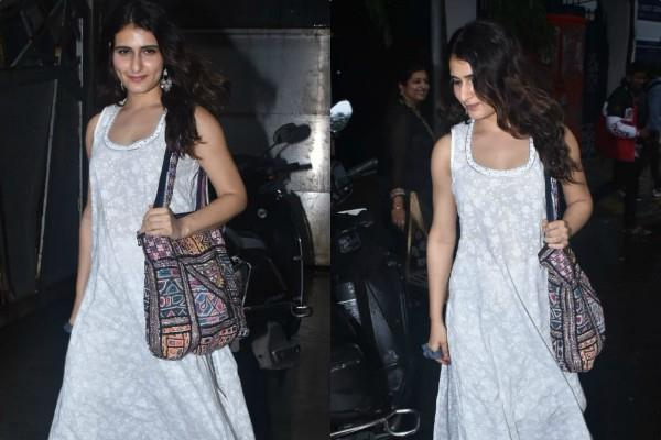fatima sana shaikh spotted outside a casting director office in juhu