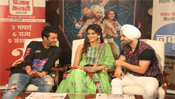 diljit dosanjh and kriti sanon film arjun patiala exclusive interview
