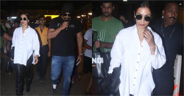 arjun kapoor returned from new york with malaika arora