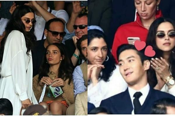 deepika padukone enjoyed wimbledon finale with sister