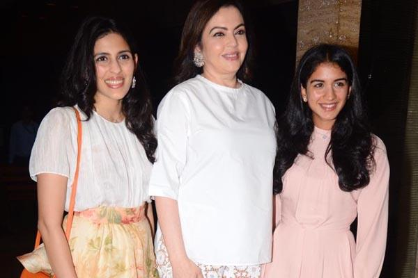 nita ambani radhika merchant and shloka mehta latest pictures