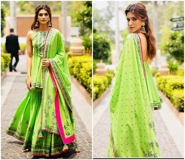 kriti sanon s sharara is perfect for your best friend s mehandi ceremony