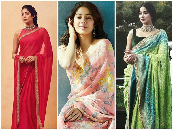 janhvi kapoor s 10 best saree collection
