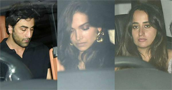 deepika ranbir and other stars enjoy saturday night partying with karan