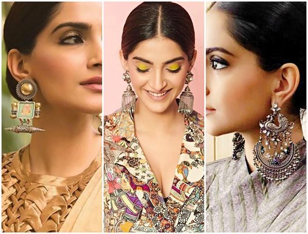 sonam kapoor ahuja latest earring collection