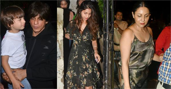 shahrukh khan attend the lion king screening with family