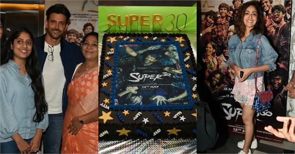 bollywood stars at super 30 screening