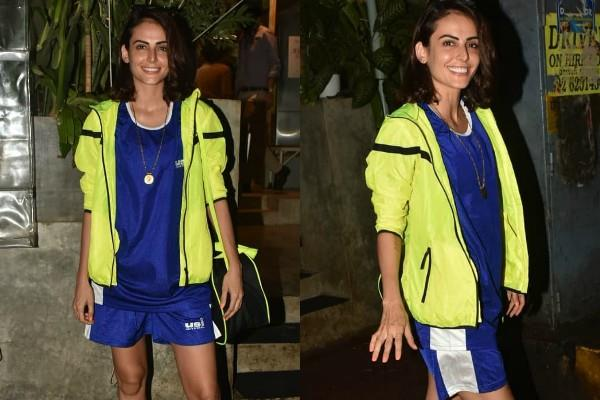 mandana karimi spotted at kitchen garden