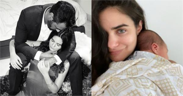 arjun rampal girlfriend shared her newborn son picture