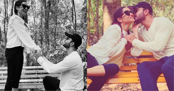 घुटने के बल बैठ अंकिता के बॉयफ्रेंड ने किया इजहार-ए-इश्क, Kiss करते की तस्वीरें वायरल