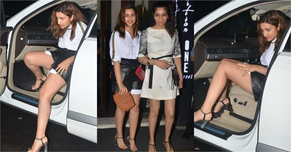 parineeti chopra at dinner date with friend
