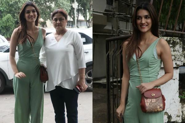 kriti sanon spotted with mom outside a salon in mumbai