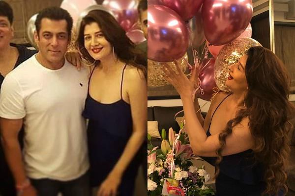 salman khan having fun at sangeeta bijlani party