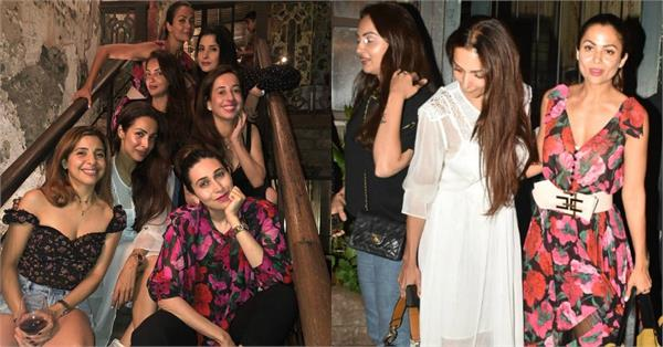 malaika arora parties with girl gang