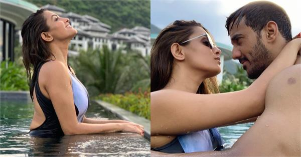 anita hassanandani with hubby rohit reddy romantic vacation pictures