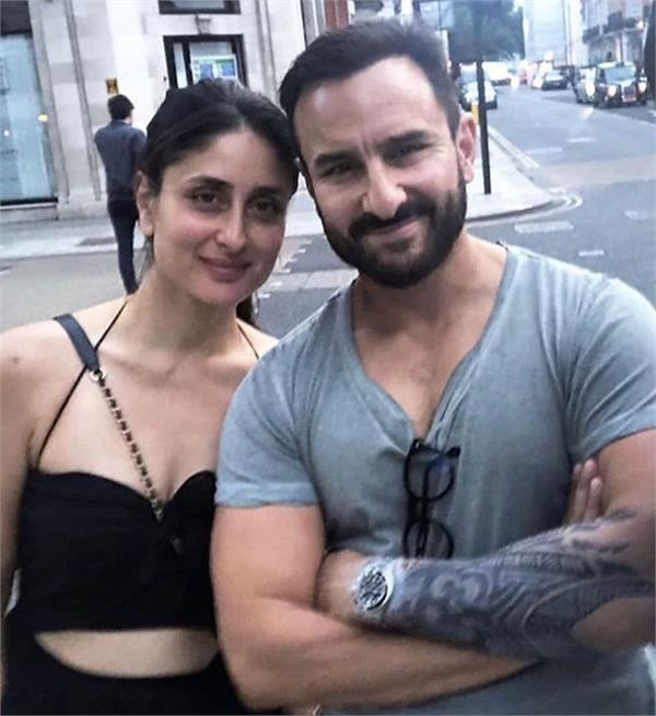 kareena kapoor khan pose with saif ali khan but his tattoo steals the show