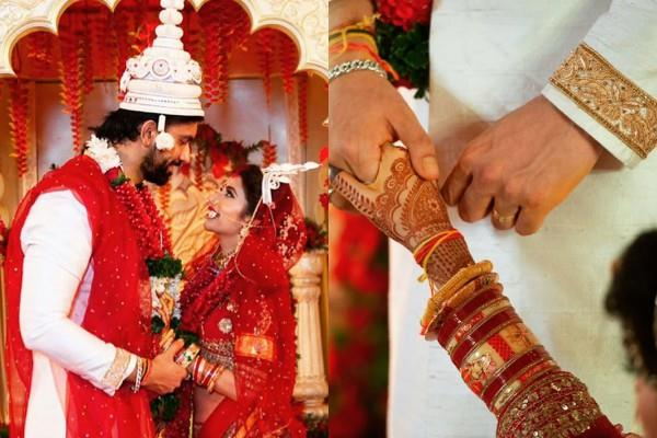 tv actress charu asopa and rajeev sen share unseen wedding pictures
