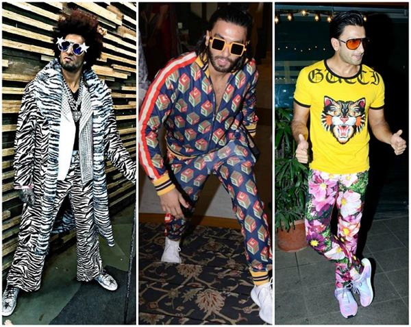 weirdest dressing sense of ranveer singh