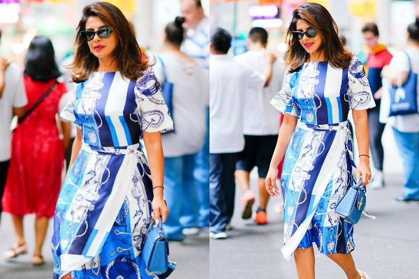 priyanka chopra spotted at new york with 4 lakh bag