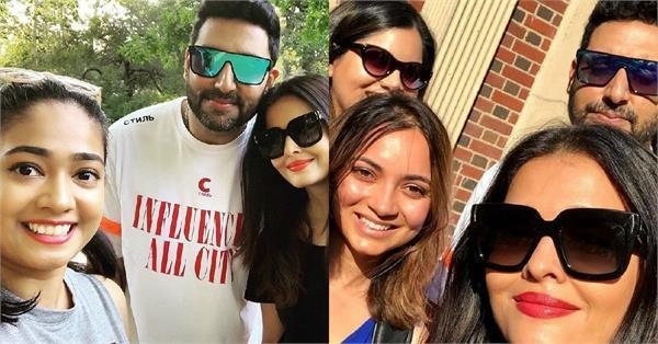 aishwarya abhishek selfie with fans in new york
