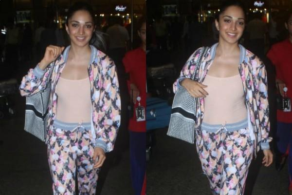 kiara advani snapped at airport in happy mode