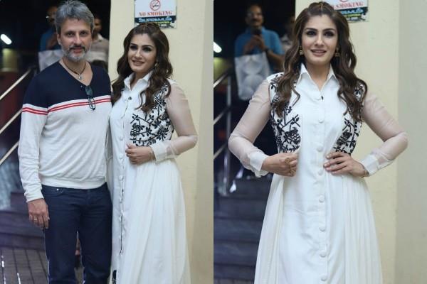 raveena tandon spotted with husband anil thadani