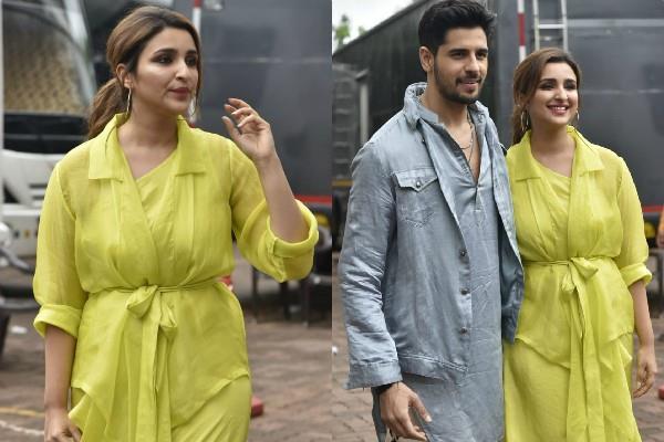 parineeti chopra fashion blunder in lime yellow dress at promotion