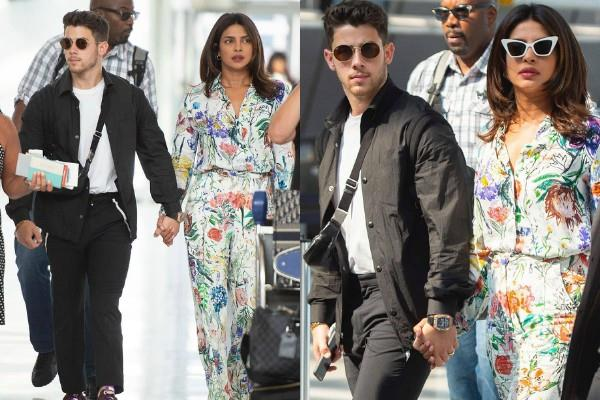 priyanka chopra spotted at new york airport with hubby nick jonas