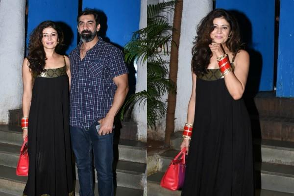 newlywed nawab shah and pooja batra spotted outside a resaurent