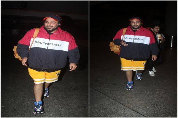 rapper badshah spotted at airport in cool look