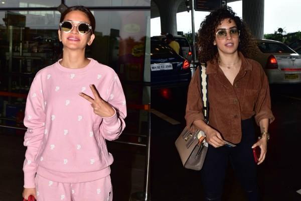 kriti kharbanda sanya malhotra spotted at airport