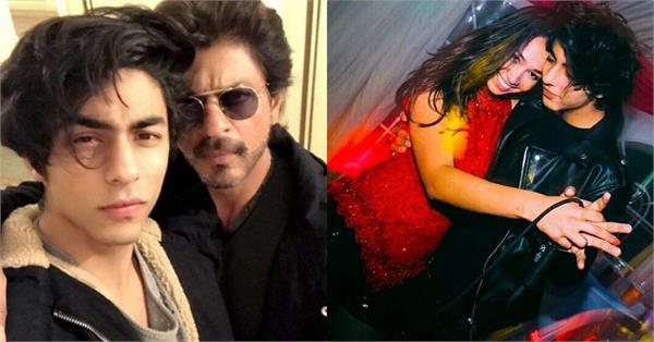 shahrukh khan son aryan viral pictures with mystery girl