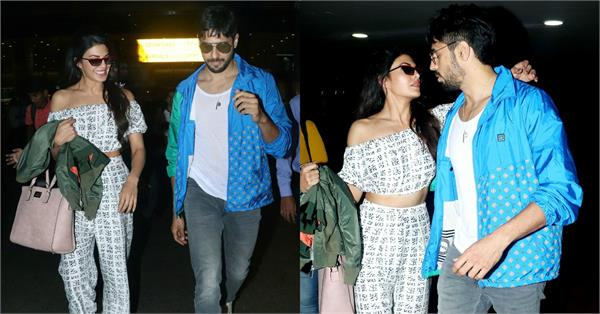 jacqueline fernandez spotted at airport with sidharth malhotra
