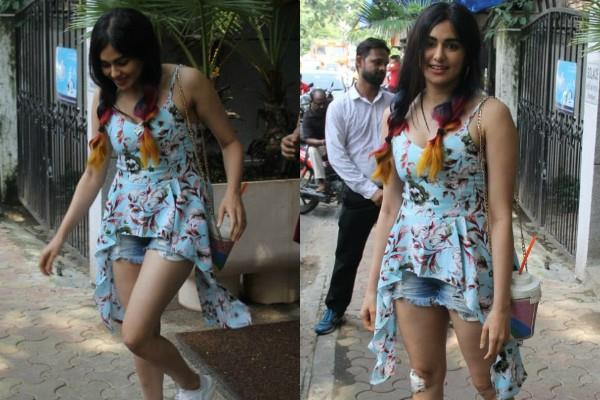 adah sharma spotted at bandra