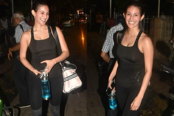 amyra dastur spotted at bandra