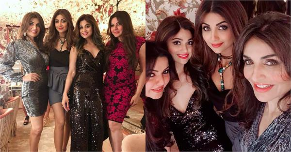 shilpa shetty enjoy party in london with sister and friends
