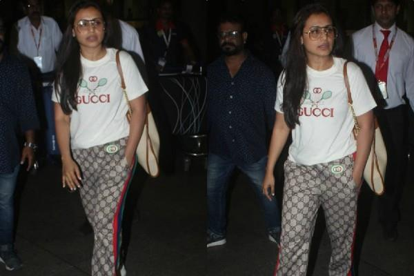 rani mukerji spotted at airport